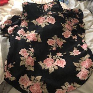 Women's dress floral shirt